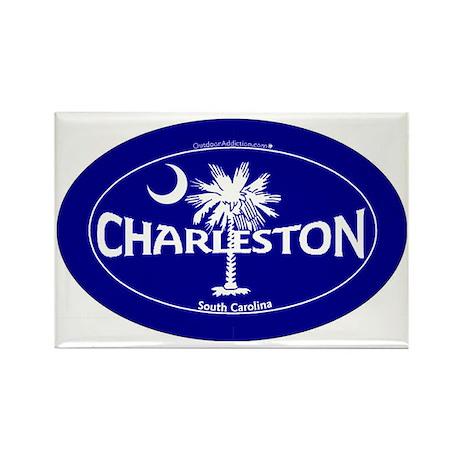 Charleston South Carolina Sticker Rectangle Magnet