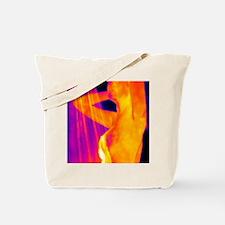 Woman showering, thermogram Tote Bag