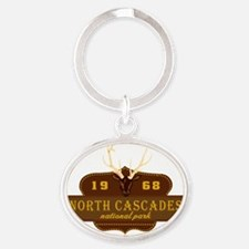 North Cascades National Park Crest Oval Keychain