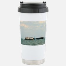 Tugboat with barges and Stainless Steel Travel Mug
