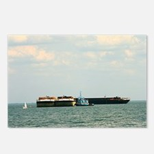 Tugboat with barges and s Postcards (Package of 8)