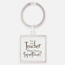 super teacher Square Keychain