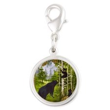 Best Seller Bear Silver Round Charm