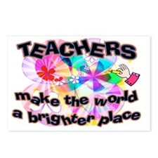 Teachers make world brigh Postcards (Package of 8)