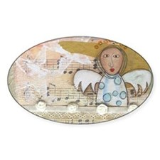Cute Angel Music Collage Decal