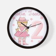 Rootin Tootin 2 Cowgirl Wall Clock