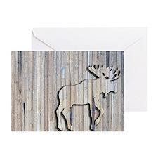 WoodenMooseRug Greeting Card