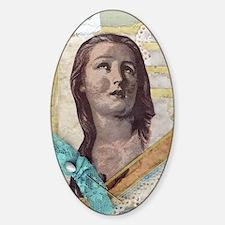 Pretty Lady Collage Sticker (Oval)