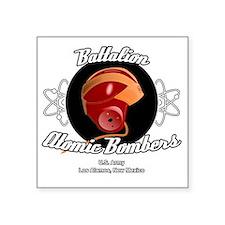 """Battalion Atomic Bombers Square Sticker 3"""" x 3"""""""