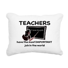 Most Important Job Rectangular Canvas Pillow