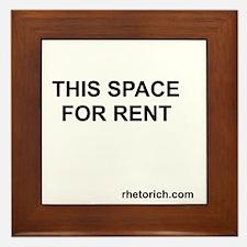 Space for Rent No Borders Framed Tile