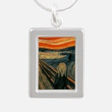 The Scream Silver Portrait Necklace