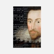 Shakespeare, Hamlet, Rectangle Magnet