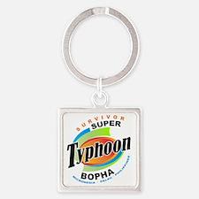 Typhoon Bopha 2012 Square Keychain