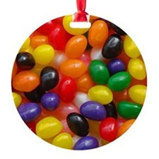 Jelly Beans Round Ornament