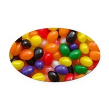 Jelly Beans Oval Car Magnet