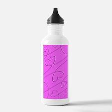 Plastic Wrap Hearts Water Bottle