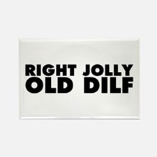 Right Jolly Old Dilf Rectangle Magnet