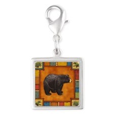Bear Best Seller Silver Square Charm