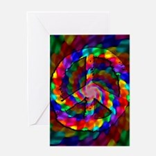 Peace Sign, Tie Dye Greeting Card