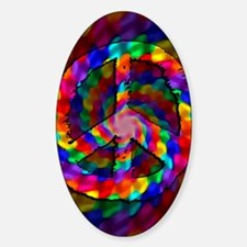 Peace Sign, Tie Dye Decal