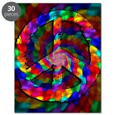 Peace Sign, Tie Dye Puzzle