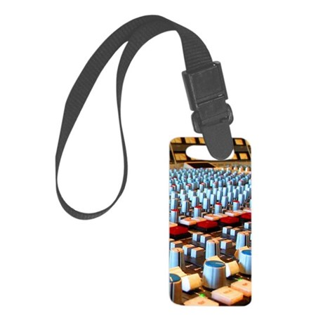 Music Studio Small Luggage Tag