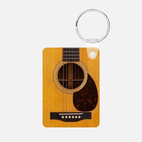 Acoustic Guitar Aluminum Photo Keychain