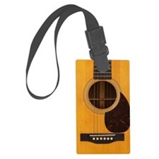 Acoustic Guitar Luggage Tag