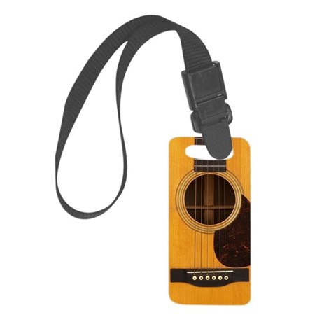 Acoustic Guitar Small Luggage Tag