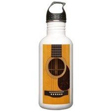 Acoustic Guitar Sports Water Bottle