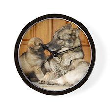 00cover-tuck-pups(2) Wall Clock