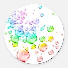 Colored bubbles Round Car Magnet