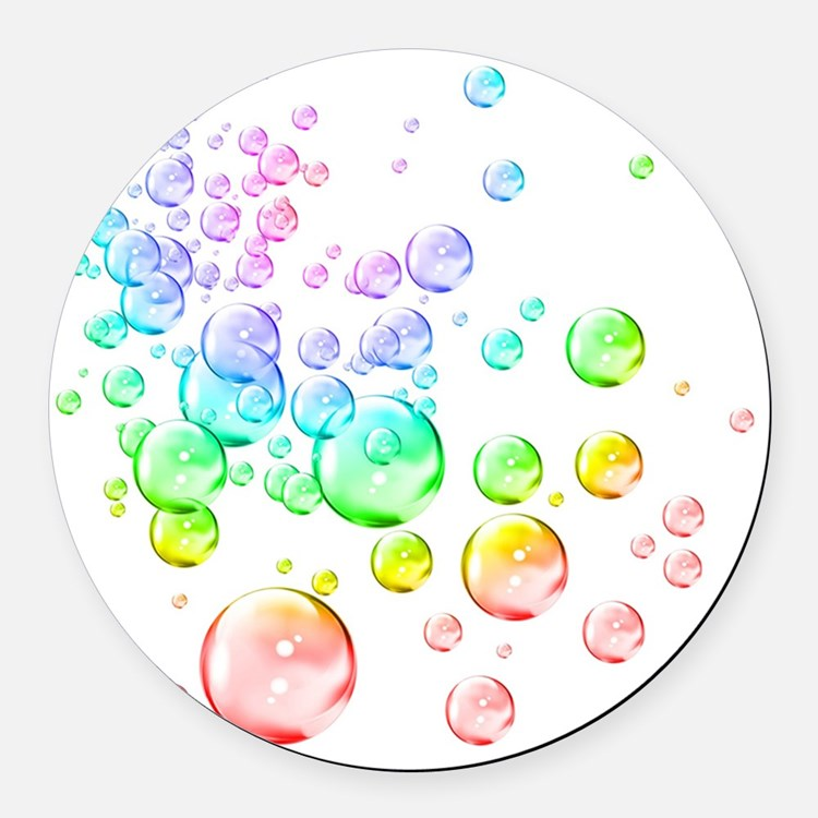 Colored bubbles Round Car Magnet