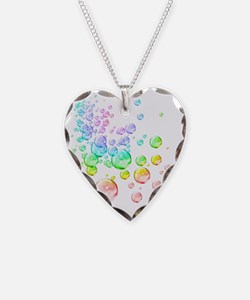 Colored bubbles Necklace Heart Charm