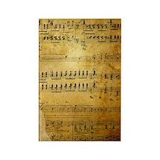 Sheet Music, Vintage, Rectangle Magnet