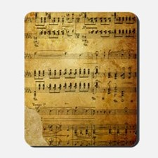 Sheet Music, Vintage, Mousepad