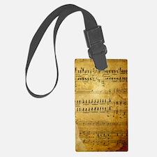 Sheet Music, Vintage, Luggage Tag