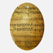 Sheet Music, Vintage, Oval Ornament