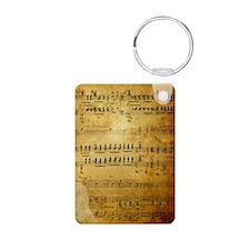 Sheet Music, Vintage, Aluminum Photo Keychain