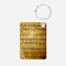Sheet Music, Vintage, Aluminum Photo Keychain