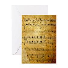 Sheet Music, Vintage, Greeting Card
