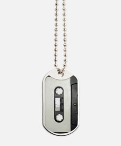 Cassette Tape Dog Tags