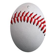 Baseball Oval Ornament