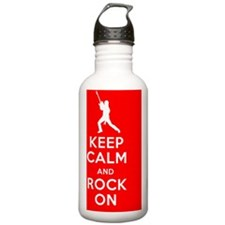 Keep Calm, Rock On Water Bottle