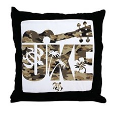 The Uke Camo Throw Pillow