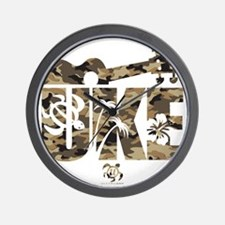 The Uke Camo Wall Clock