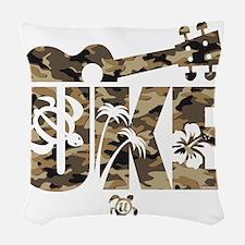 The Uke Camo Woven Throw Pillow