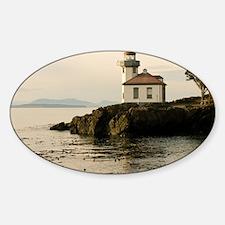 01jan-Lime-Kiln-Lighthouse_wildesho Sticker (Oval)