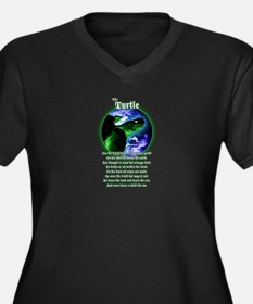 """The Turtle"" Women's Plus Size V-Neck Dark T-Shirt"